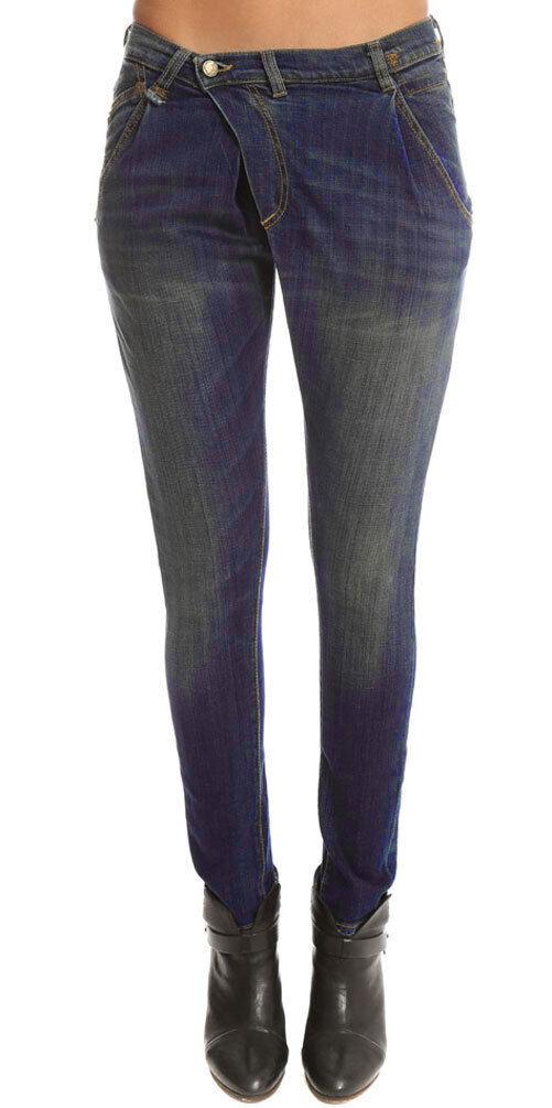R13 Women's Vintage Indigo Harem Style X Over Jean  395 NEW