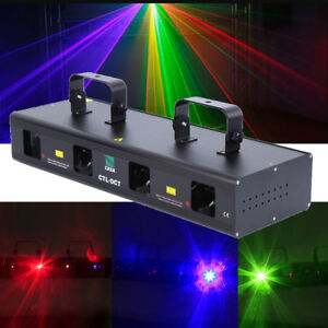 760mW RGBW Full Color Laser Light Stage Show 13CH Projector DMX512 Xmas Decor