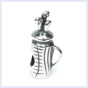 925-Sterling-Silver-Golf-Club-Bag-Sport-Ball-Bead-for-European-Charm-Bracelet
