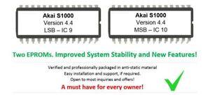 Akai S-1000 - Version 4.4 Os Mise à Niveau Upgrade Eprom Microprogramme For S1000 Sampler-afficher Le Titre D'origine