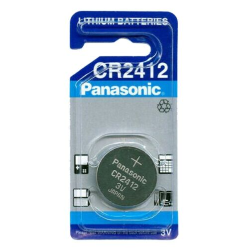 3x CR2412 Lithium-Knopfzelle 3 Volt 100mAh ø24x1,2mm 3V Blisterpack Panasonic
