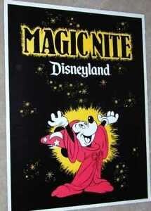 Disneyland Magic Nite POSTER 1979 Walt Disney Mickey Mouse Sorcerer's Apprentice