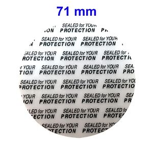 Details about 71 mm Press and Seal Safety Liners Tamper foam seal for  cosmetic bottles & jars
