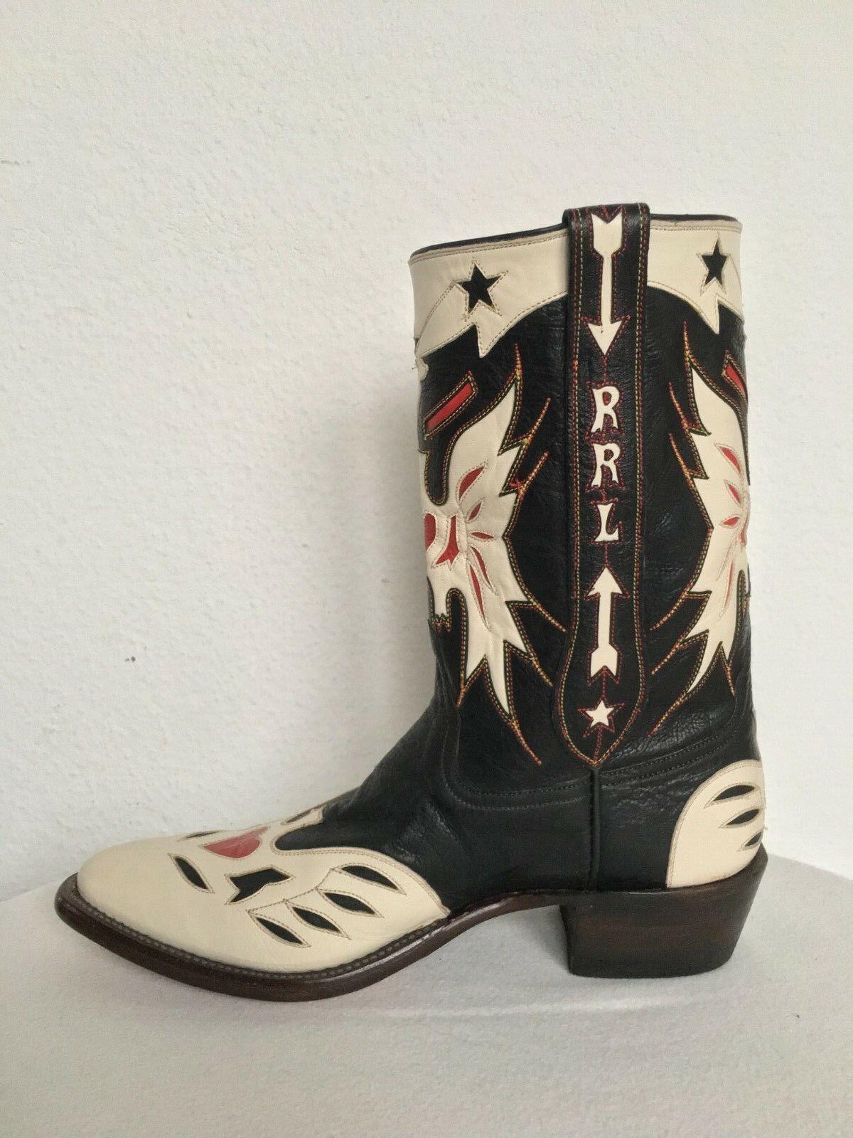 Ralph Lauren Double Rl, botas vaqueras, cuero, US 11 d ( ), 1.000,-