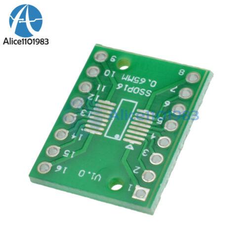 5PCS SOP16 SSOP16 TSSOP16 To DIP16 0.65//1.27mm IC Adapter PCB Board
