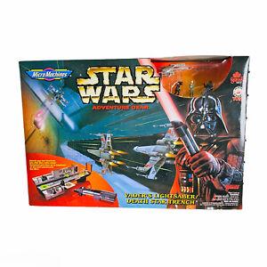 Star-Wars-Micro-Machines-Darth-Vader-039-s-Lightsaber-Death-Star-Trench-Galoob-1996
