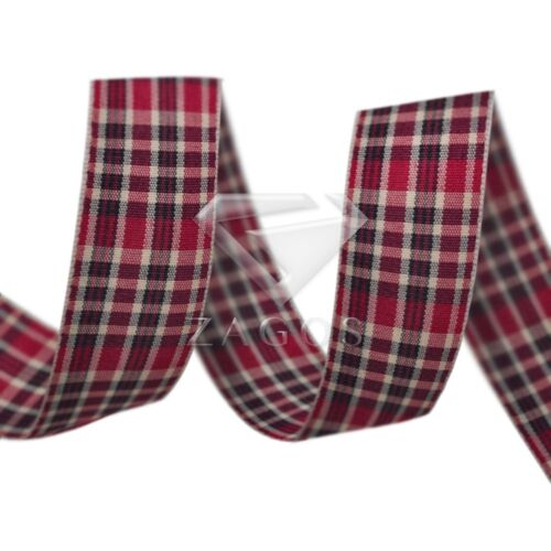 10 Yards Tartan Ribbon Gingham Plaid Woven Ribbon Craft Supplies DIY 25mm
