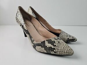 Diana-Ferrari-Leather-Animal-Print-Classic-Pump-Court-Heel-Women-039-s-Size-US8-5