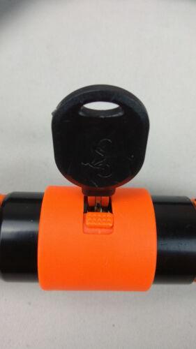 Stahlex Superlock© Kettenschloß Fahrradschloss 120 cm Ø 6 mm schwarz/orange Fahrradzubehör Radsport