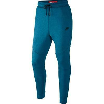 Nike Tech Fleece Pants Joggers INDUSTRIAL BLUE HEATHER BLACK 805162-457 2XL XXL