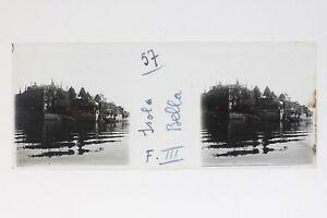 Lac Maggiore Italia Isola Bella Foto Stereo T2L9n30 Placca Da Lente Vintage