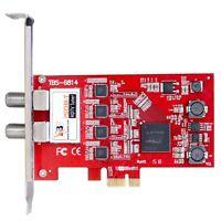 Tbs6814 Isdb-t Quad Tuner Pcie Card Sbtvd Tv Digital Terrestrial Tv On Pc