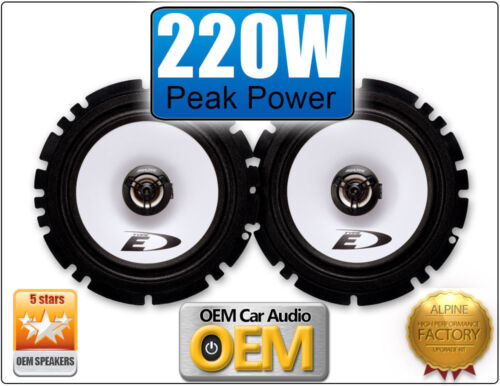 "Hyundai Getz Front Door speakers Alpine 17cm 6.5/"" car speaker kit 220W Max Power"