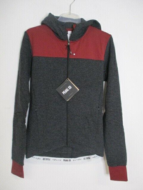 Pedal ed attakai wool Jacket 16 wjkwj de moda rueda-chaqueta con capucha negra