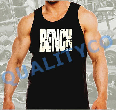 Men/'s Bench Weight Lifting Workout Bodybuilding Gym Black Muscle Tank Top