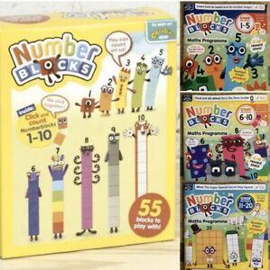 Original-Cbeebies-Number-Blocks-1-10-Toy-And-Free-SET-Of-Magazines-1-20