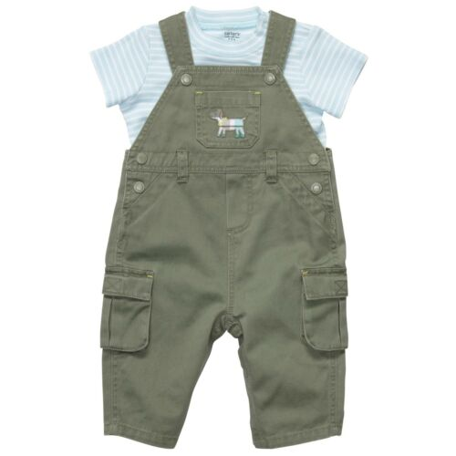 Carter/'s 2 Piece Overalls and Puppy Dog T-Shirt Set ~ New With Tags