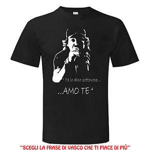 Dettagli su T shirt VASCO ROSSI AMO TE MUSICA BLASCO maglietta maglia Uomo Donna Man Woman