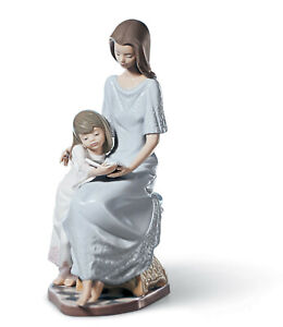 LLADRO BEDTIME STORY MOTHER FIGURINE #5457 BRAND NIB LOVE FAMILY DAUGHTER SAVE$$