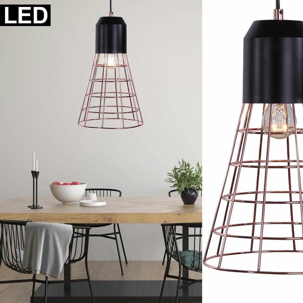 LED rétro pendentif spot plafonnier salon FILAMENT cage suspension lampe neuf