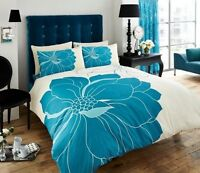 Teal Blue Vibrance Bedding Duvet Cover Quilt Set Double Gaveno Cavailia