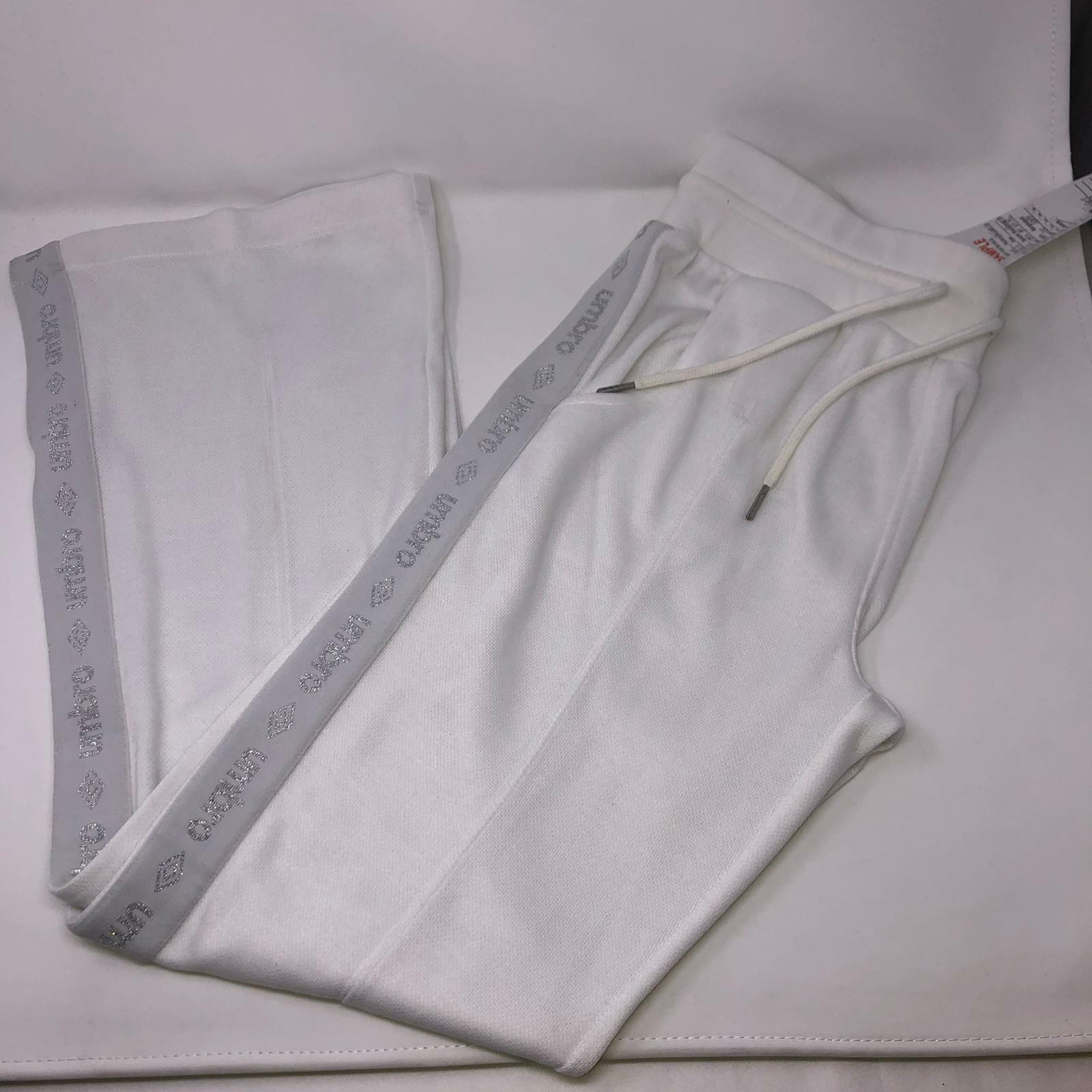 New Umbro White Sports Warmup Training Pants Women Medium