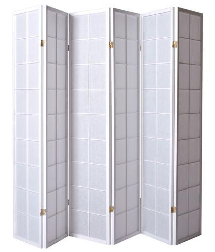 175 x 264 cm Paravent japonais Shoji en bois blanc de 6 pans Dimensions