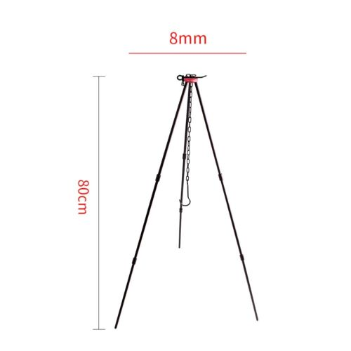 Outdoor Camping Cookware Tripod Aluminum Alloy Hanging Cooking Pot for Fire Hang