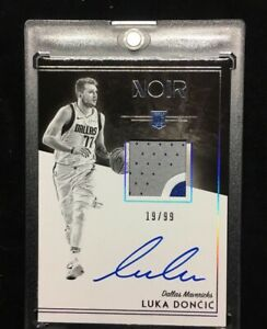 2018-19-Panini-Noir-Luka-Doncic-RPA-Patch-Auto-RC-19-99-Mavs-HOT-BGS-9-5-Rookie
