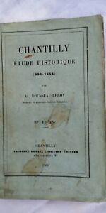 Chantilly. Étude Historique (900-1858) 1859 Pour RéDuire Le Poids Corporel Et Prolonger La Vie