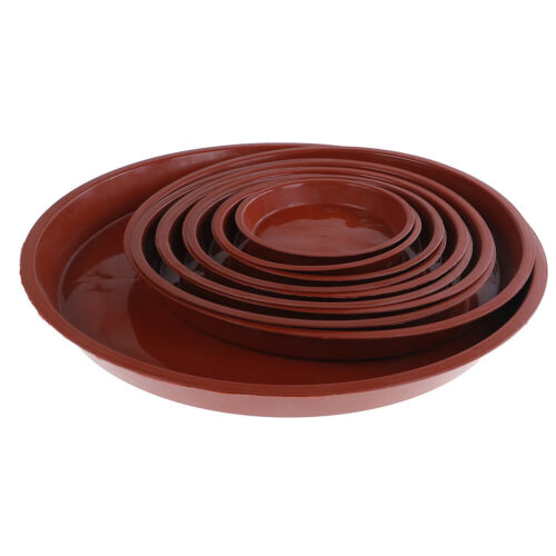 garden pp resin round plant saucer pad flower pot base water saving tray GR