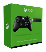 Official Xbox One Controller Wireless + Wireless Adapter for Windows 10 (Black)