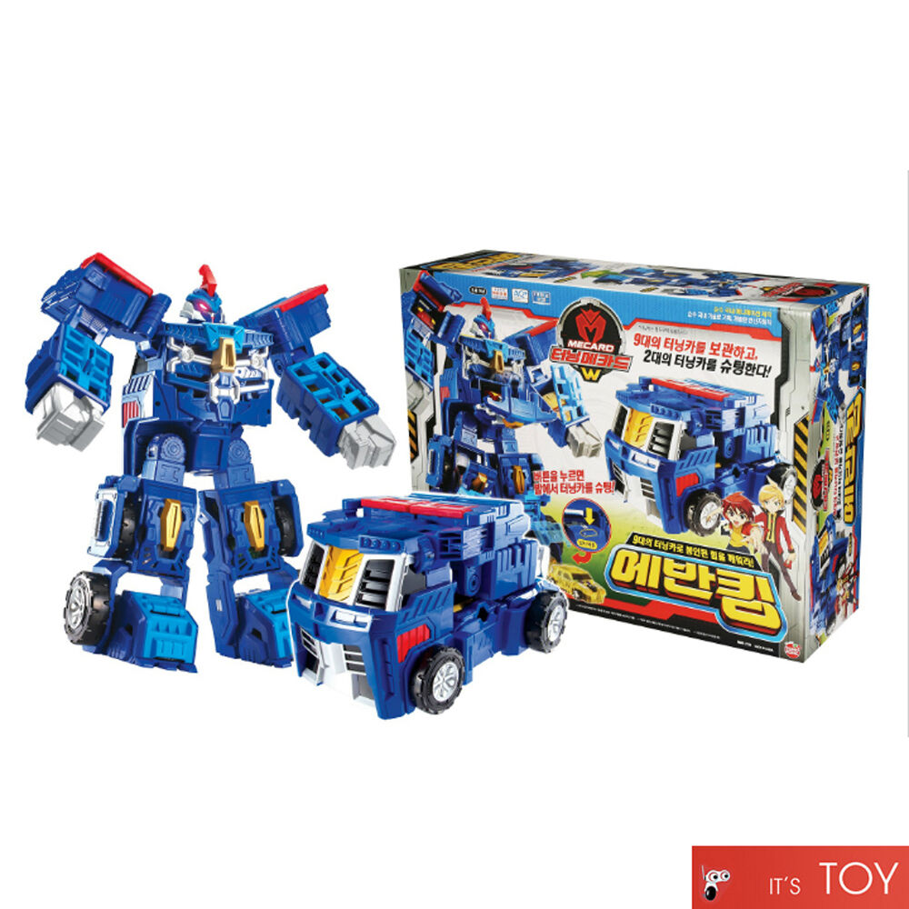 Turning Mecard W EVAN KING bluee Great Transformer Robot Car Toy Mecarnimal 2017