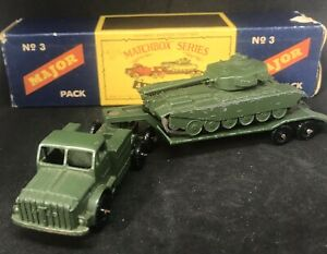 Matchbox-Lesney-M3-A1-THORNYCROFT-ANTAR-amp-CENTURION-TANK-c1959