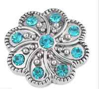 rhinestone handmade Hot Snaps Chunk Charm Button for leather Bracelets  AA-685