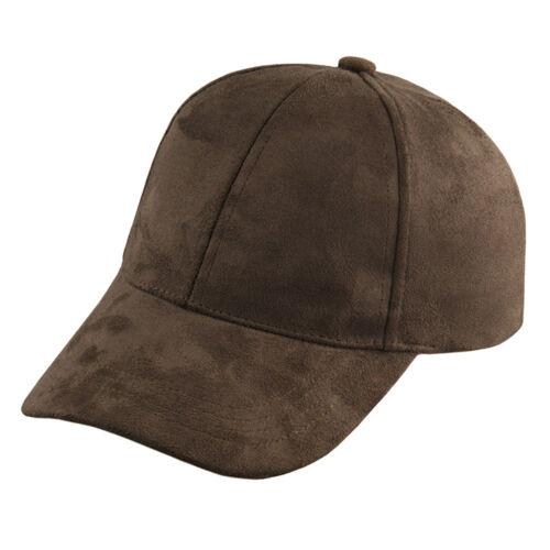 2016 Unisex Men Women Suede Baseball Cap Snapback Visor Sport Sun Adjustable Hat