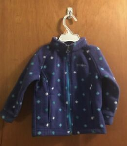 8dc5c8a42c2 Details about Columbia Girls Toddler Fleece Jacket Purple Size 18- 24 Months