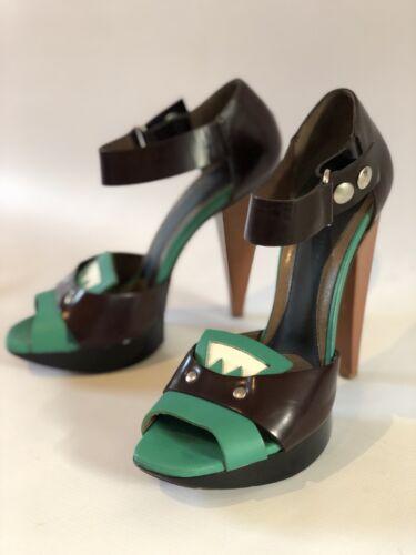 de Marni portées fois plateforme 37 taille une marque de à talons chaussures Sandales italienne EFwxfOqIPn