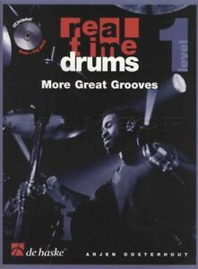 Real Time Drums Basic Method For Drumset Level Two Drums SHEET MUSIC BOOK /& CD