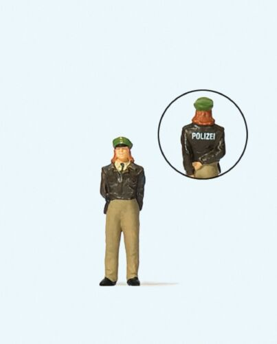 Polizistin Deutschland 1 Figur handbemalt Neu Maßstab 1:87 Preiser 28199 H0