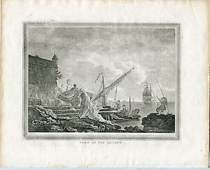 View-IN-The-Levant-Engraving-By-Walker-Over-Artwork-Of-Vernet-IN-1835