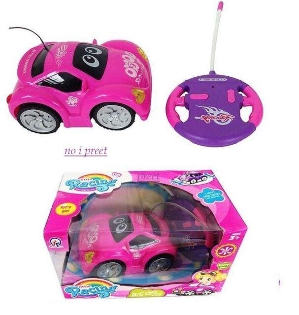 Kids Girls Purple Pink Remote Control Car RC Car Toy Car Light