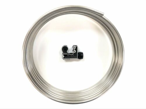 """16 ft Roll of Stainless steel 3//8/"""" Fuel line tubing  w// Tube cutter"""