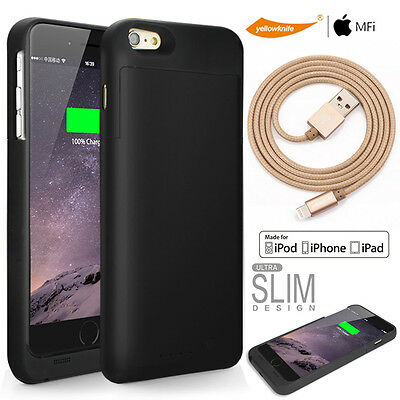 For Apple iPhone 7/7Plus Rechargeable Battery Case MFi Lightning Charging Cable