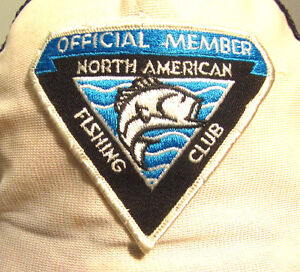 North american fishing club vtg trucker cap member beat up for North american fishing club