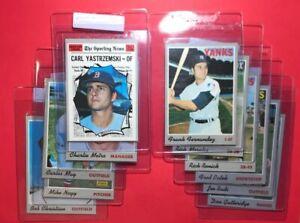 11-Card-Vintage-1970-Topps-Baseball-Lot-Mid-grade-Carl-Yastremski-AS-commons