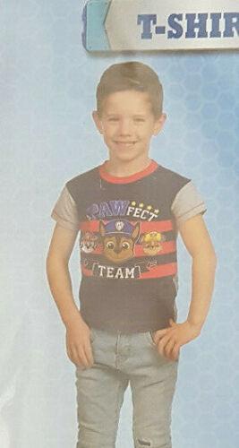 Boys Girls Paw Patrol Character Short Sleeve  T-Shirt Top  3-4  Yrs Bnwt