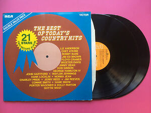 The-Best-Of-Today-039-s-Country-Hits-Rca-Victor-JET-102A-B-Ex-Condizioni-Doppio-LP
