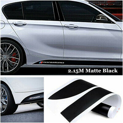 2 x For BMW M PERFORMANCE VINYL STICKERS Bumper Side Skirt DECAL Graphic