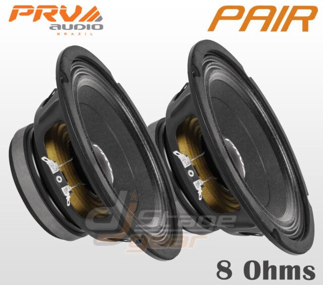 "Pair PRV Audio 8MB450 8"" Mid Bass 2 x Woofers 8 Ohms Midbass Speaker - PRV 8 in"